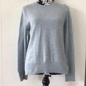 light blue wool sweater